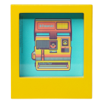 Polaroid Desk Frame, Yellow, 4x4""